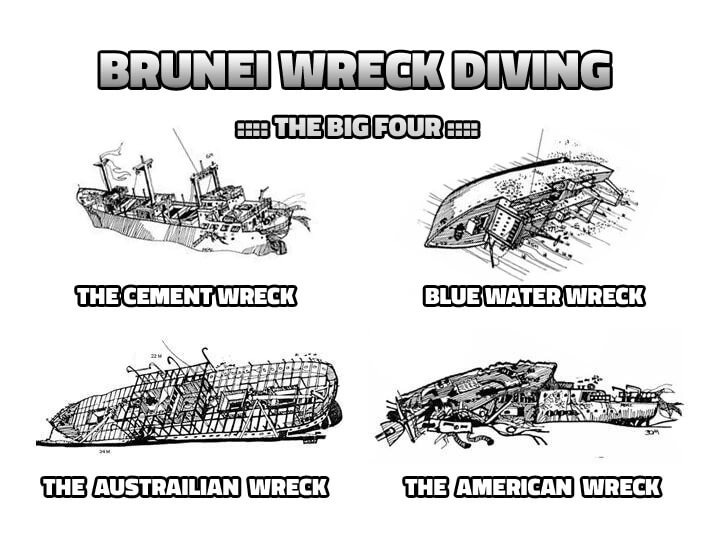 Wreck Diving Brunei The Big Four