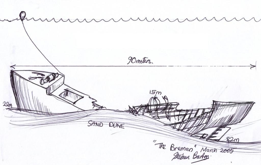 Bremen Wreck Dive Map