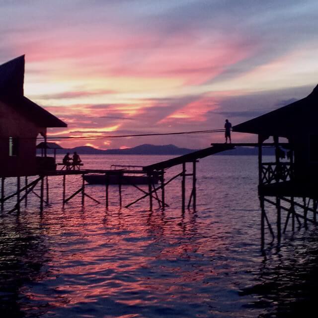 Diving Mabul Island Sabah Malaysia Sunset